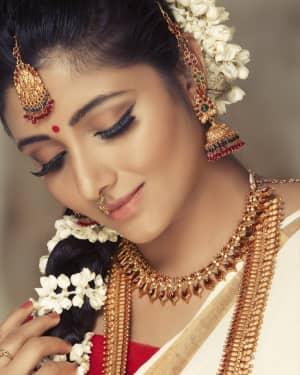 Actress Adhiti Menon in Saree Traditional Photo Shoot Images