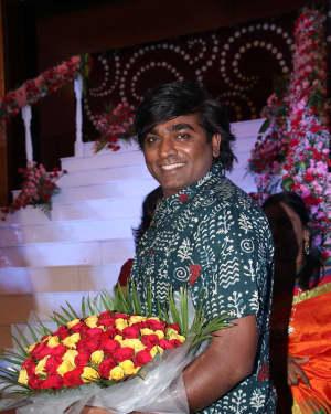 Vijay Sethupathi - Music Director Dharan Kumar - Actress Deekshitha Wedding Reception Photos