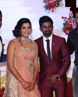 Arun Vijay - Music Director Dharan Kumar - Actress Deekshitha Wedding Reception Photos