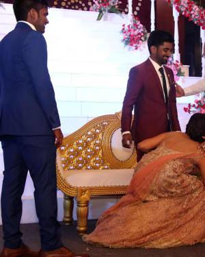 Sathyaraj - Music Director Dharan Kumar - Actress Deekshitha Wedding Reception Photos | Picture 1528365