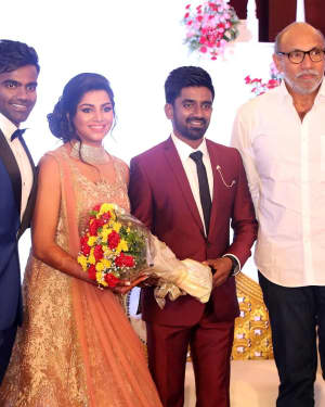 Sathyaraj - Music Director Dharan Kumar - Actress Deekshitha Wedding Reception Photos | Picture 1528362