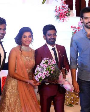 Sibiraj - Music Director Dharan Kumar - Actress Deekshitha Wedding Reception Photos   Picture 1528374
