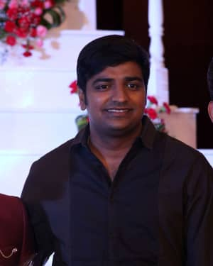 Sathish - Music Director Dharan Kumar - Actress Deekshitha Wedding Reception Photos