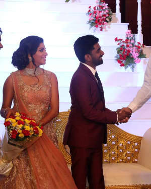 Sathyaraj - Music Director Dharan Kumar - Actress Deekshitha Wedding Reception Photos | Picture 1528363