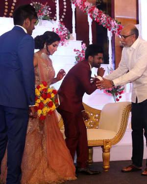 Sathyaraj - Music Director Dharan Kumar - Actress Deekshitha Wedding Reception Photos | Picture 1528364