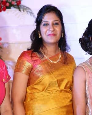 Swetha Mohan - Music Director Dharan Kumar - Actress Deekshitha Wedding Reception Photos
