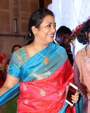 Poornima Bhagyaraj - Music Director Dharan Kumar - Actress Deekshitha Wedding Reception Photos