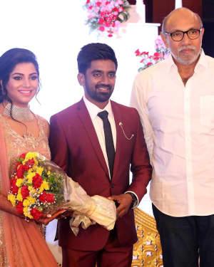 Sathyaraj - Music Director Dharan Kumar - Actress Deekshitha Wedding Reception Photos | Picture 1528361