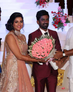 Music Director Dharan Kumar - Actress Deekshitha Wedding Reception Photos