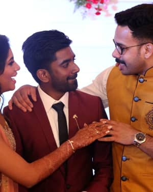 Bharath - Music Director Dharan Kumar - Actress Deekshitha Wedding Reception Photos