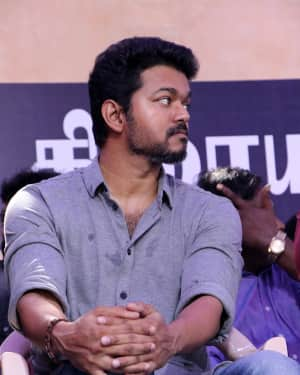 Vijay - Photos: Tamil Film Industry's protest against Sterlite and Cauvery Issue