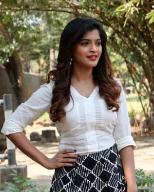 Actress Sachita Shetty Stills at Yenda Thalaila Yenna Vekkala Movie Press Meet