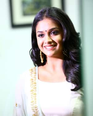Actress Keerthi Suresh Photos during Thaana Serndha Koottam Promotions