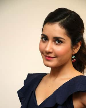 Actress Raashi Khanna Stills at Imaikkaa Nodigal Interview