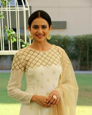 Actress Rakul Preet Singh at Karthi 17 Movie Pooja Stills