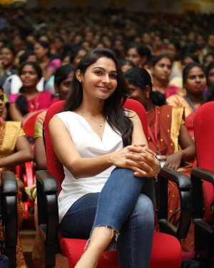Actress Andrea Jeremiah Stills at Women's Day Celebrations at Jeppiaar Engineering College