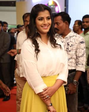 Varalaxmi Sarathkumar - Sandakozhi 2 Celebrity Show with PVR Icon Opening Photos