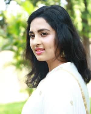 Srushti Dange Photos at Arjuna Movie Pooja