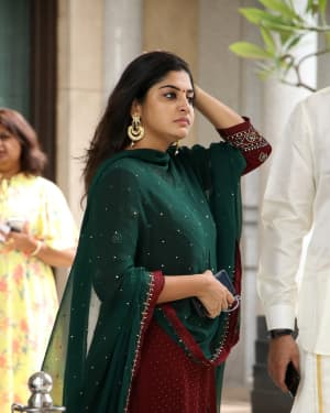 Manjima Mohan - Soundarya Rajinikanth and Vishagan Reception Photos