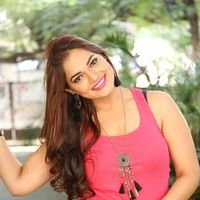 Aswini Poses during Dubbing of her Movie Photos