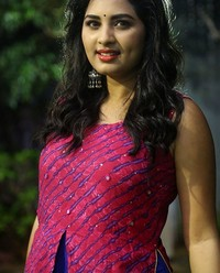 Actress Srushti Dange At Oy Ninne Audio Launch Photos | Picture 1522413