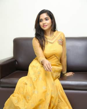 Karunya Chowdary at Seetha Ramuni Kosam First Look Launch Photos