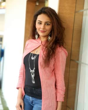 Actress Seerat Kapoor Stills at Okka Kshanam Success Meet