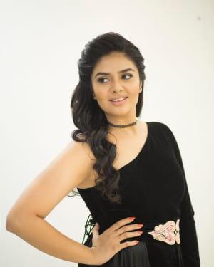 Actress Sreemukhi in Black Photoshoot
