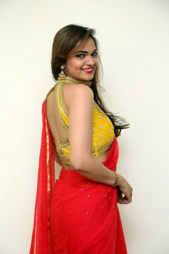 Aswini Hot in Red Saree Photos   Picture 1469880