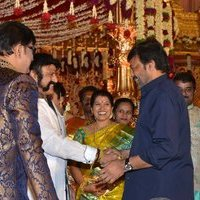 Nandamuri Balakrishna - Telugu Celebs at Koti Son Rajeev Saluri Wedding Reception Photos