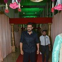 Venkatesh - Telugu Celebs at Koti Son Rajeev Saluri Wedding Reception Photos