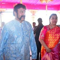 Nandamuri Balakrishna - TSR Grandson Keshav and Veena Wedding Reception Photos