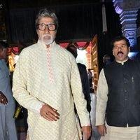 Amitabh Bachchan - TSR Grandson Keshav and Veena Wedding Reception Photos
