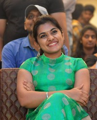Niveda Thomas during Ninnu Kori Blockbuster Celebrations at Vijayawada