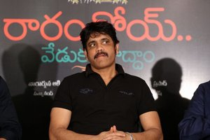 Nagarjuna Akkineni @ Rarandoi Veduka Chudham Success Meet Photos