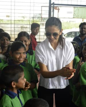 Rakul Preeth Singh Birthday Celebrations at Cherish Orphanage Home Photos | Picture 1535177