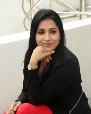Rashmi Gautam during Interview Of Vunnadhi Okate Zindagi Photos