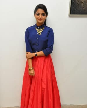 Actress Nikhila Vimal at Meda Meeda Abbayi Movie Pre Release Function Photos | Picture 1525543