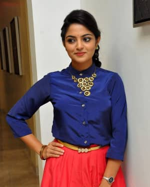 Actress Nikhila Vimal at Meda Meeda Abbayi Movie Pre Release Function Photos | Picture 1525554