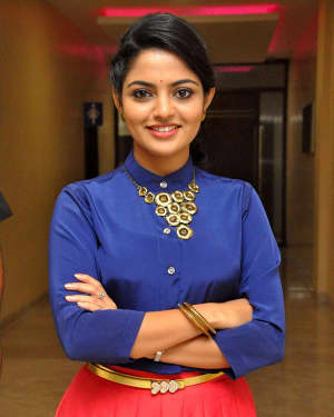 Actress Nikhila Vimal at Meda Meeda Abbayi Movie Pre Release Function Photos | Picture 1525560