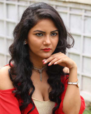 Actress Nandini Hot Stills at Prabhas Movie Opening