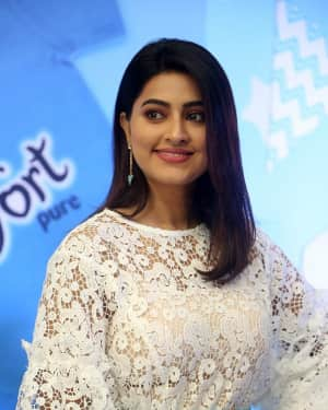 Actress Sneha stills during the launch of comfort pure fabric conditioner