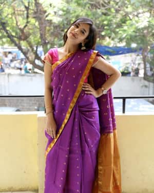 Actress Radha Bangaram Stills at Nee Prema Kosam Movie Audio Launch