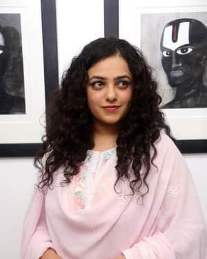 Actress Nithya Menon Stills at Gaze Art Show