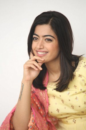 Actress Rashmika Mandanna Stills during Geetha Govindham Movie Interview