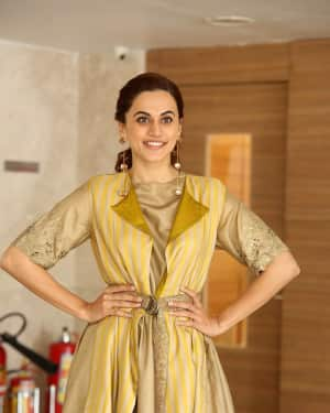 Taapsee Pannu Photos during Neevevaro Movie Interview  | Picture 1594388