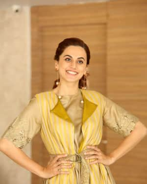Taapsee Pannu Photos during Neevevaro Movie Interview  | Picture 1594354