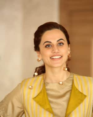 Taapsee Pannu Photos during Neevevaro Movie Interview