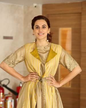 Taapsee Pannu Photos during Neevevaro Movie Interview  | Picture 1594385