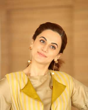 Taapsee Pannu Photos during Neevevaro Movie Interview  | Picture 1594351